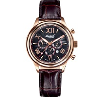INGERSOLL HAIDA Automatic Rose Gold Brown Leather Strap