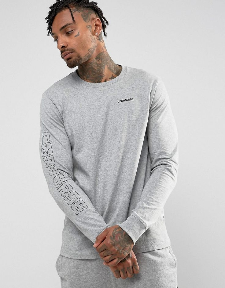 Get this Converse's printed t-shirt now! Click for more details. Worldwide shipping. Converse Graphic Wordmark Long Sleeve T-Shirt In Grey 10004707-A03 - Grey: T-shirt by Converse, Supplier code: 10004707-A03, Soft-touch jersey, Crew neck, Chest Converse logo, Branded sleeve, Regular fit - true to size, Machine wash, 100% Cotton, Our model wears a size Medium and is 189cm/6'2.5 tall. The iconic hi-top canvas trainer created by Converse at the beginning of the 20th Century, have become a…