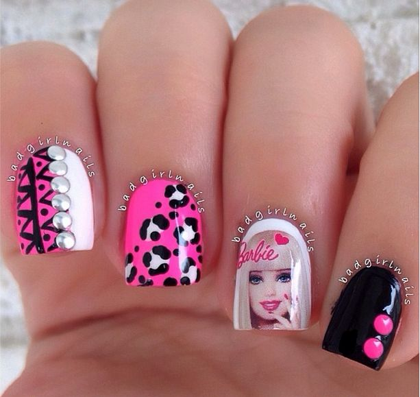 29 best barbie nail art tutorial video gallery by nded images on barbie nail art tutorial prinsesfo Images