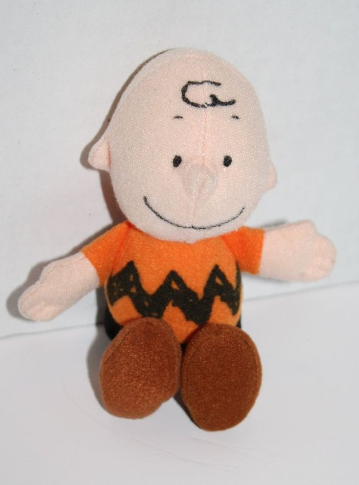 """Wendys Kids Meal plush Charlie Brown stuffed doll Stocking Stuffer Small toy 5""""  #Peanuts"""