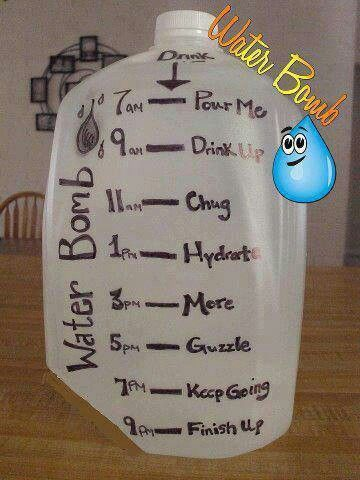 water bomb for drinking more water.. check all 10 motivation ideas for weight loss on link.