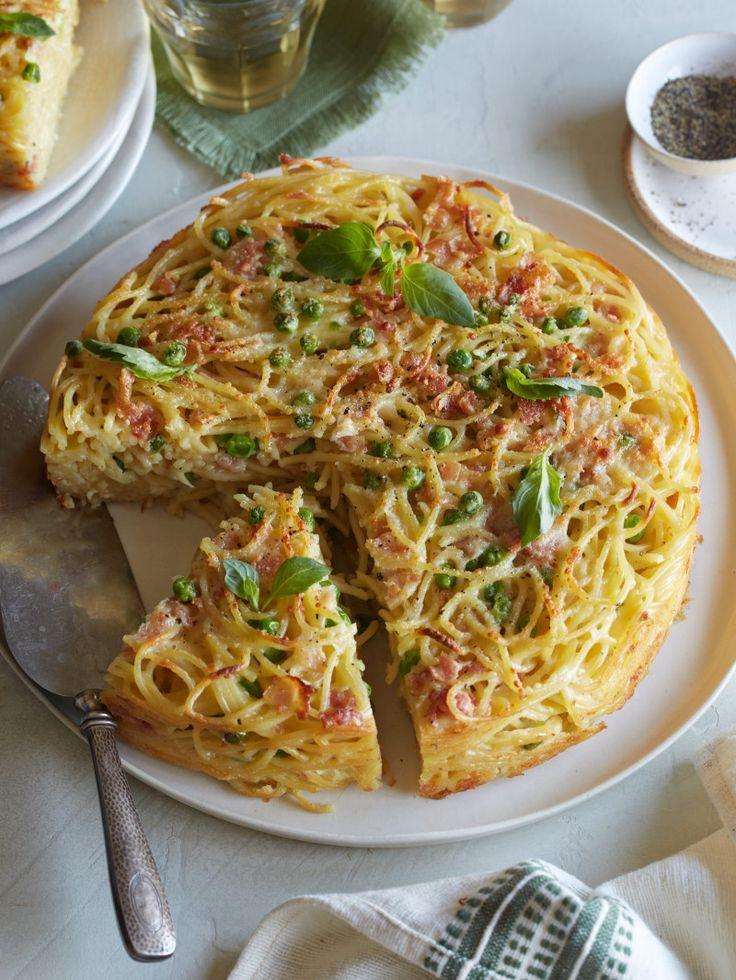 Carbonara Pasta Pie