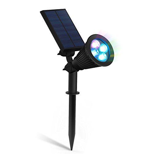 zeefo Lampes solaires LED Lampe Spot Applique murale extérieure 180° réglable étanche Veilleuse de sécurité pour Paysage Éclairage Allée,…