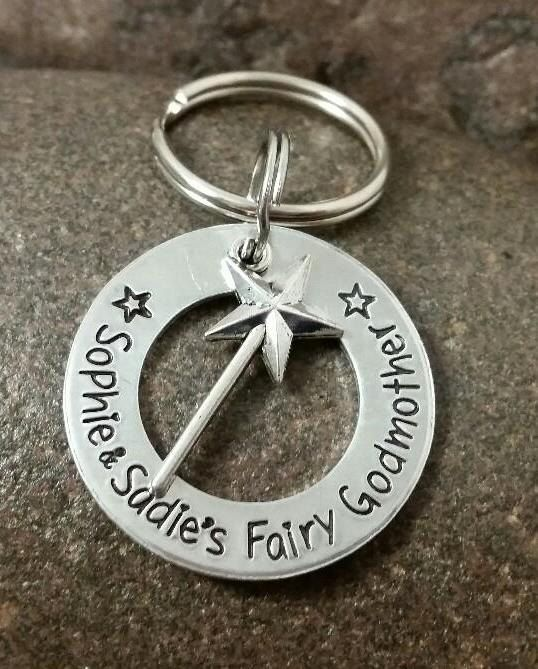 Fairy Godmother Key Chain with Wand by SayWhatCreations on Etsy