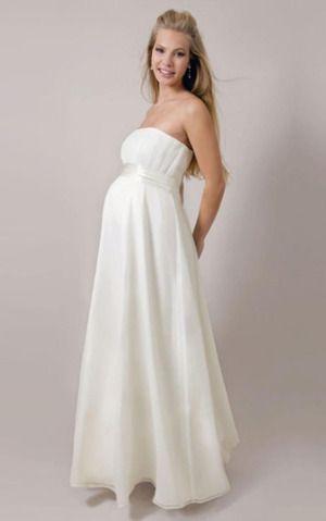 Strapless Mid Back Winter Wedding Dress with Sash