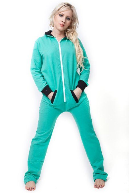 Kayla, Darlene...should we get these for our convention sleepover?  Amazon.com: Cozy Fleece Pajamas Onesie For Women All In One Hooded Aqua: Clothing