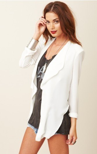 Plastic Islands, Fashion, White Blazers, Style, Closets, Outfit, Crop Jackets, Islands Shelly, Shelly Crop