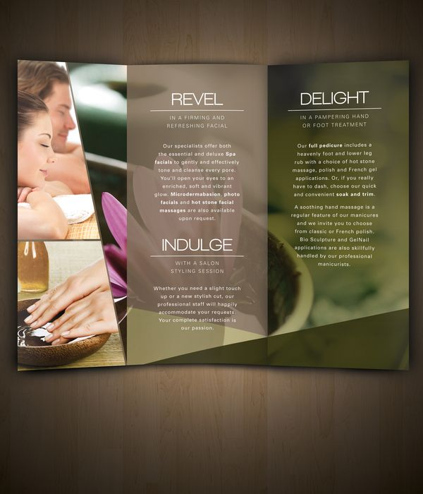 39 best SPA BROCHURES images on Pinterest Brochure design