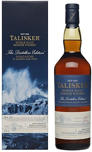 Talisker Whisky Distillers Edition 70 cl: Ecosse 45,80 % Volume Alcool Bouteille 70cl L'article Talisker Whisky Distillers Edition 70 cl…