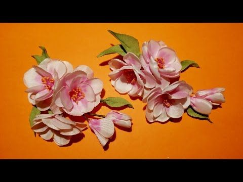 Fabric flowers tutorial/non-standard method of fabric dyeing /Цветы из ткани. Орхидея - YouTube