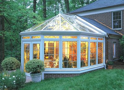 a conservatory... all the beauty of the outdoors without the wasps, rain, and pollen...love it!