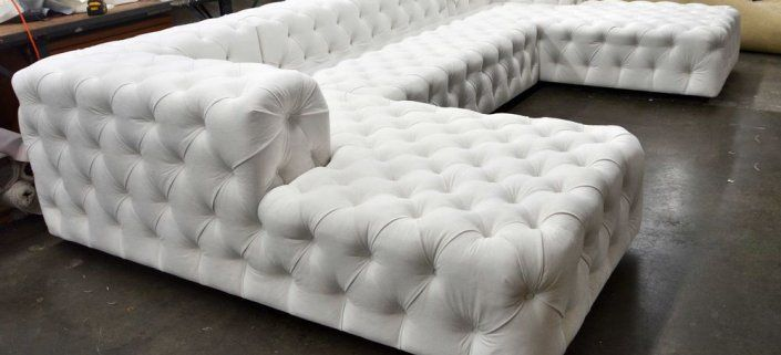 Tufted Soho Sofa Round Sectional White Sectional Furniture