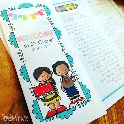 Editable back to school brochures for meet the teacher or open house nights!