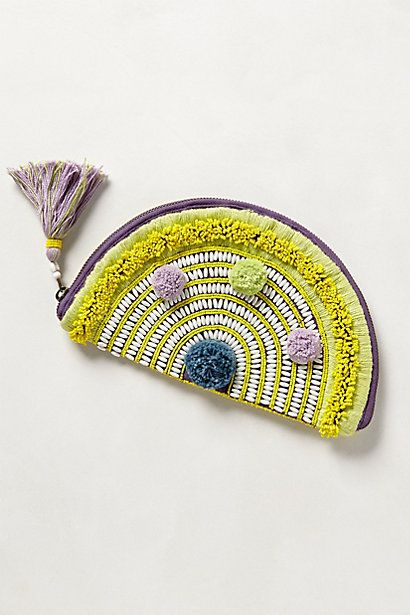Cute pouch/coin-purse -- once again, would be fun to experiment with pattern-making and embroidery to create something similar but DIY.