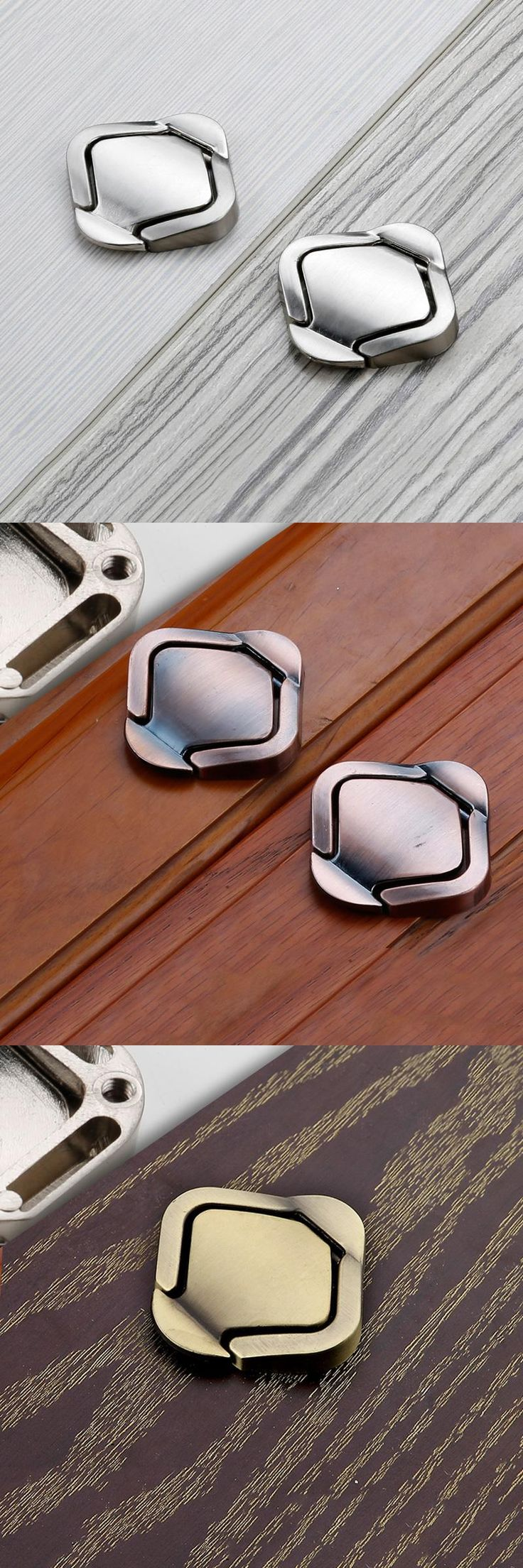 [Visit to Buy] 1pcs Cabinet  furniture hidden Recessed Flush Pull Nckel window handle sliding door knob #Advertisement