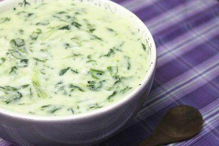 Receita de Creme de Espinafre com Biomassa - receitas, vídeos e dicas para uma alimentação saudável