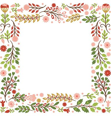 Floral frame vector by Lenlis on VectorStock®