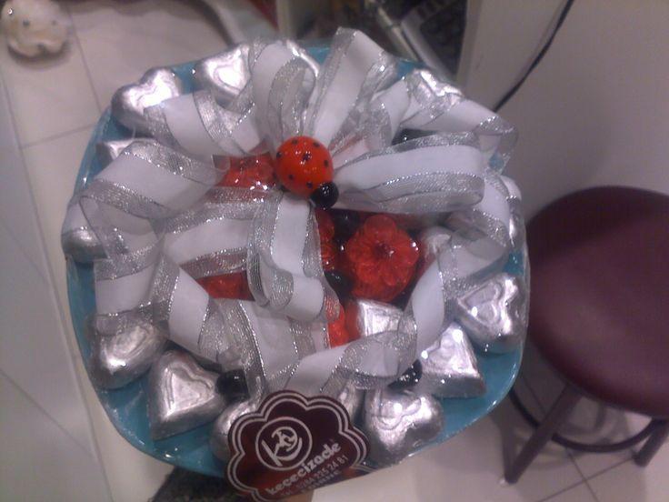 kalpli çikolata ve fıstık draje