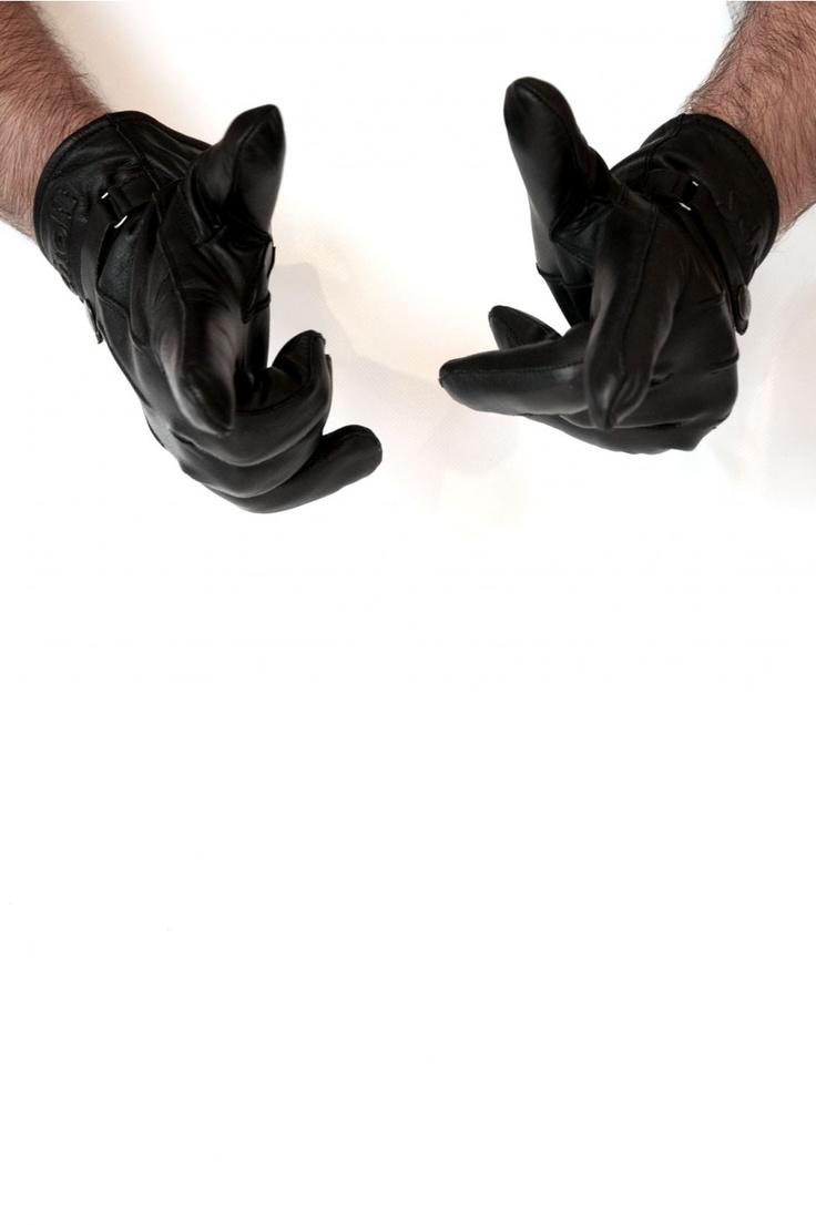 Schott Cowhide Gloves in Black - available @ BootsJeansandLeathers.com