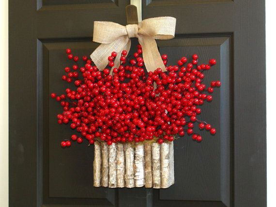 Christmas wreaths Holiday wreaths Berry wreaths by aniamelisa