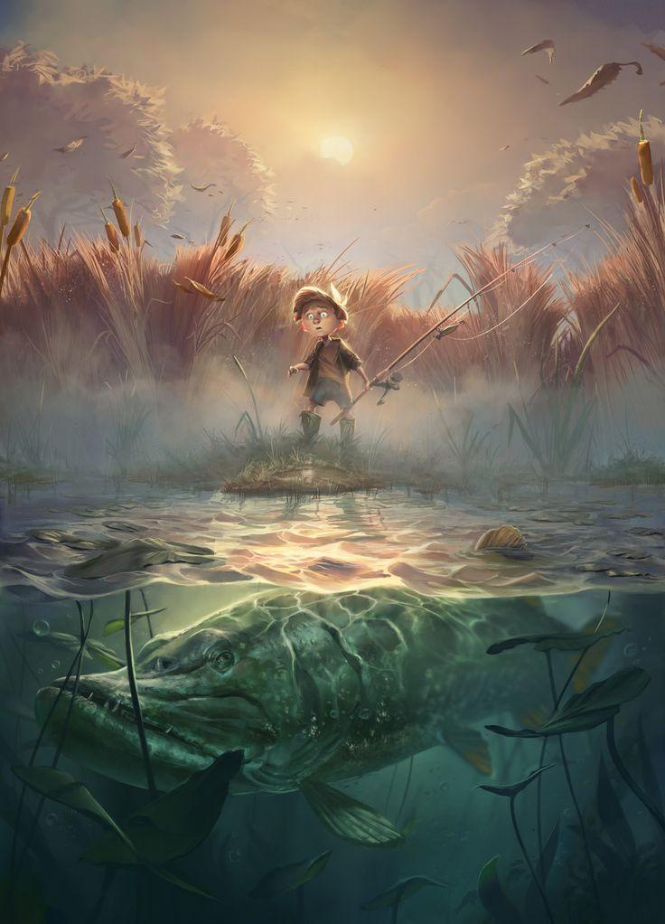 Book cover illustration, Morten Solgaard Pedersen on ArtStation at https://www.artstation.com/artwork/qd2zn
