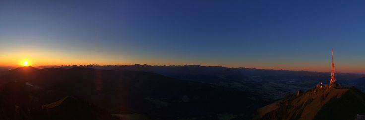 Sonnenaufgang am Grünten, Allgäu, Bayern.