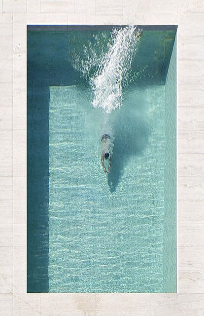 Geometrically Perfect . Jump in a Pool . Photography