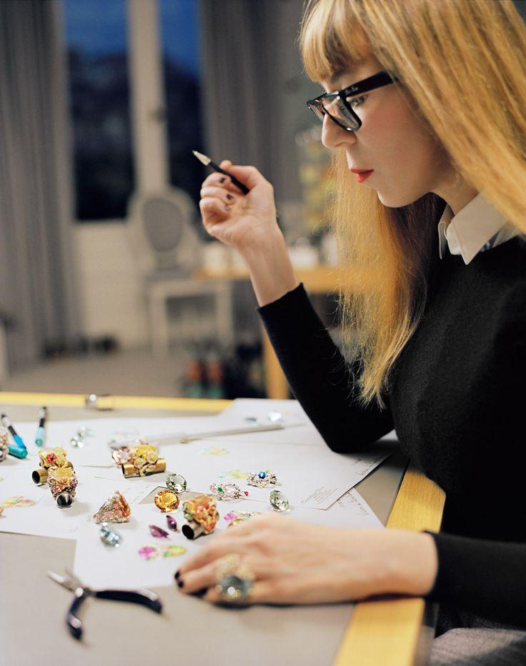 Dear Dior creator Victoire de Castellane in the design studio by Francois Halard