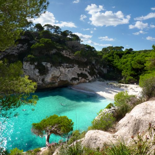 Mine! Cala Macarella, Santa Galdana, Balearic Islands, Spain. The perfect private beach.