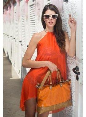 Dunnas My Orange Leather Handbag. Buy @ http://thehubmarketplace.com/My-Orange