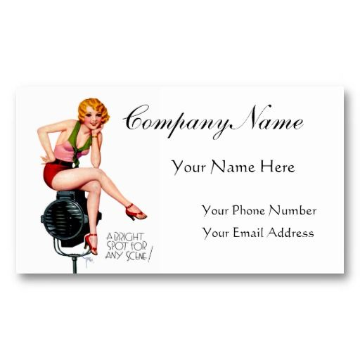 17 best pin up girl business cards images on pinterest business a bright spot pin up girl retro art business cards colourmoves