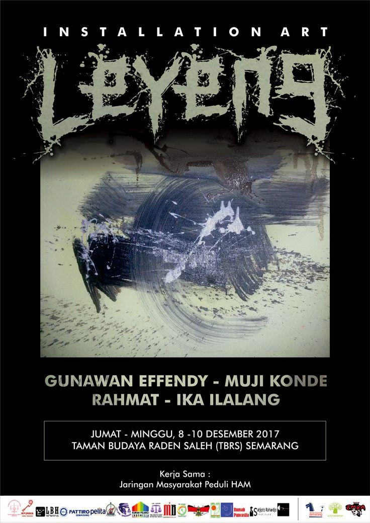 "Poster design for ""LEYENG"" Installation art event. © 2017 @bleedsyndicate"