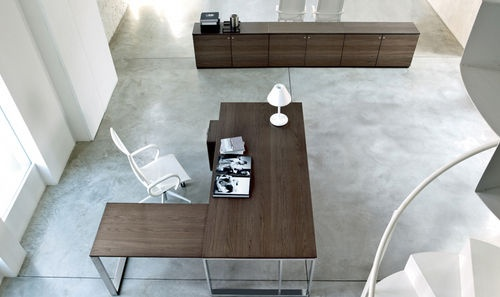 contemporary executive wooden office desk with metal structure VELVET Frezza