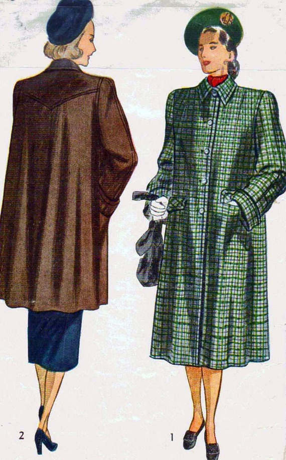 17 Best images about Vintage Coat Patterns on Pinterest ...