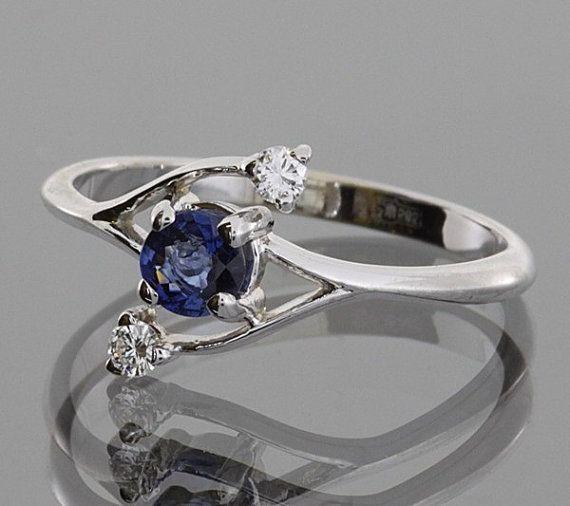 Saphir-Ring Ring Gold Saphir Birthstone Ring