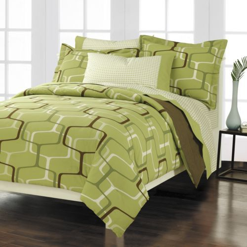 White And Green Bedding | Lime Green Bedding