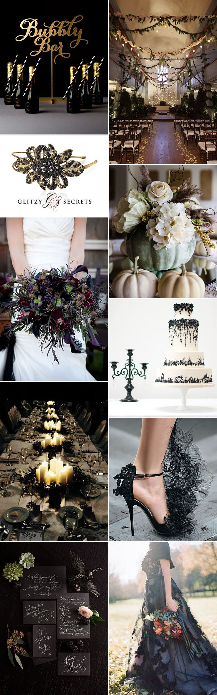 A Halloween wedding with elegance - Glitzy Secrets - GS Inspiration