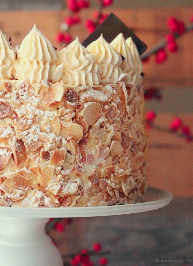 tarta, sara, almendra, crema francesa, crema mantequilla, bizcocho genoves,