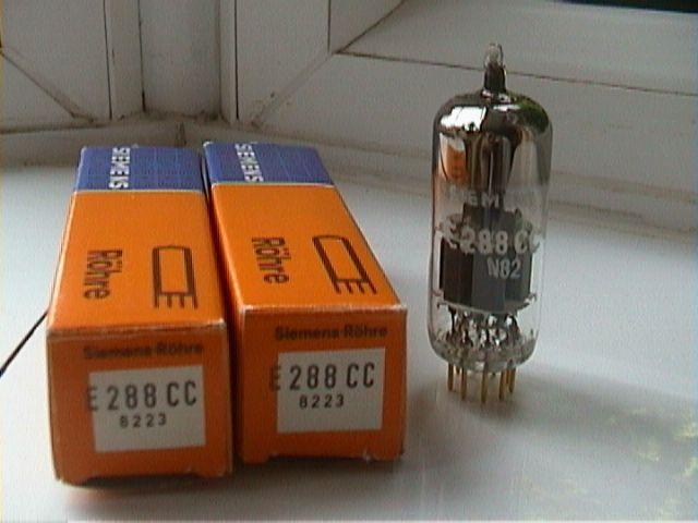 E288CC x 2 Siemens Electron tubes