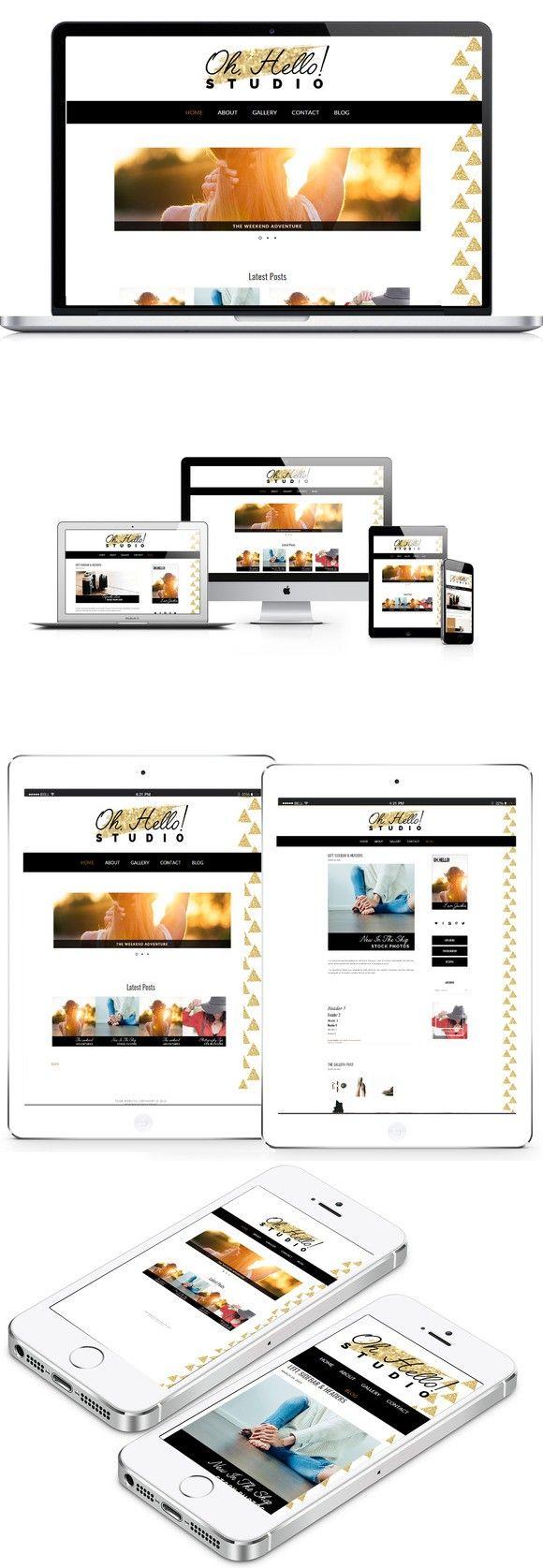 130 best wordpress minimal themes images on pinterest templates oh hello wordpress theme magicingreecefo Gallery