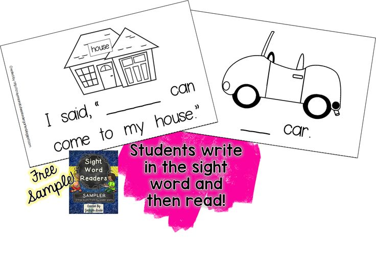 Sight Word Reader sample- FREE! Students write in the sight word and then read the book. Super easy to prep- just print, collage with staple option and cut in half! Books are ready to read!