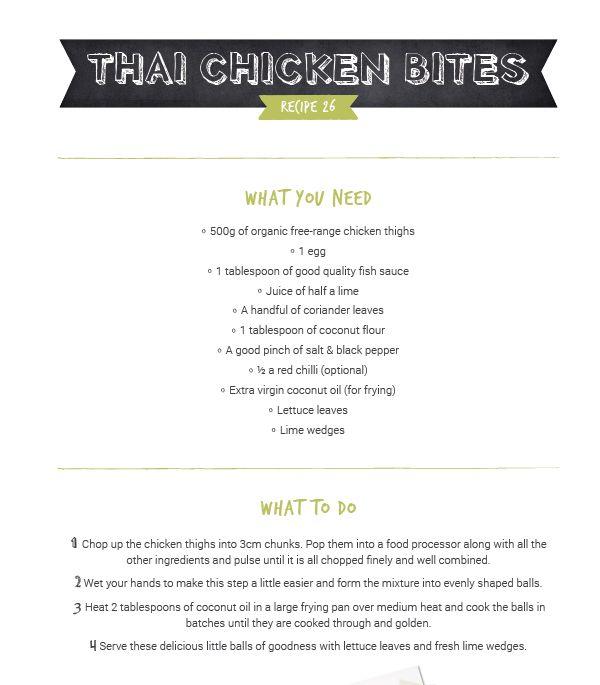 Organic Sisters Thai Chicken Bites