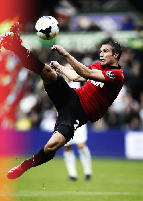Robin van Persie opening goal for 2013/14 season against Swansea City
