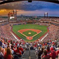 A ballgame at Citizen's Bank park.Philadelphia Philly, Banks Parks, Favorite Places, Citizen Banks, Ball Parks, Baseball Stadium, Philadelphia Phillies, Baseball Season, Philly Basebal