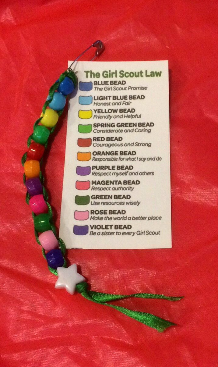 GS SWAPs Kit ~ Girl Scout Law ~ Beaded Scout Troop Craft Activity for 12 ~ Girl Scouts by DaritiDesigns on Etsy https://www.etsy.com/listing/211637221/gs-swaps-kit-girl-scout-law-beaded-scout
