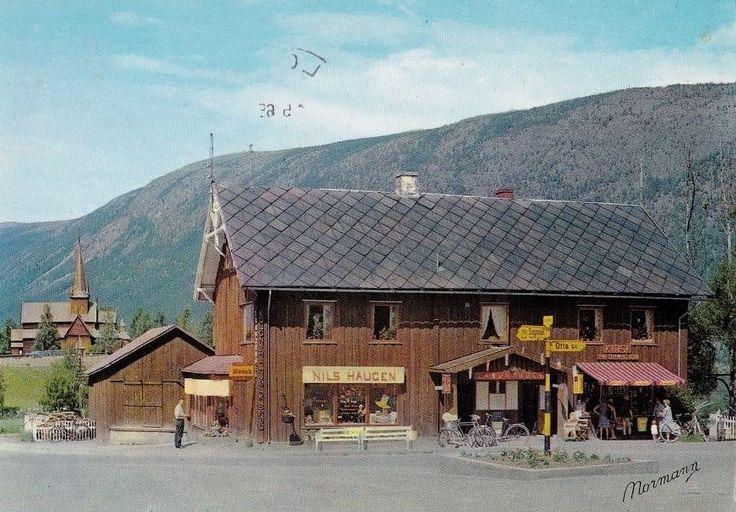 Oppland fylke Lom kommune Nils Haugen kolonial brukt 1965 Utg Normann