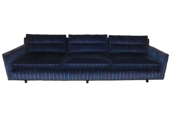 MID-CENTURY MODERN TUXEDO SOFA ATTRIBUTED TO HARVEY PROBBER