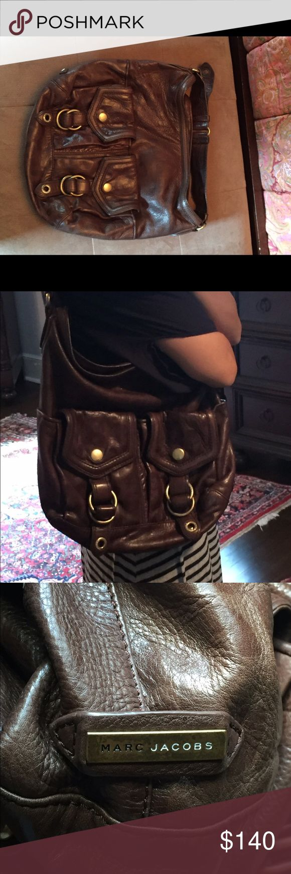 Brown hobo style Marc Jacobs bag Brown hobo style Marc by Marc Jacobs handbag. Gentle wear, but leather has gotten better looking than when brand new. Marc by Marc Jacobs Bags Hobos
