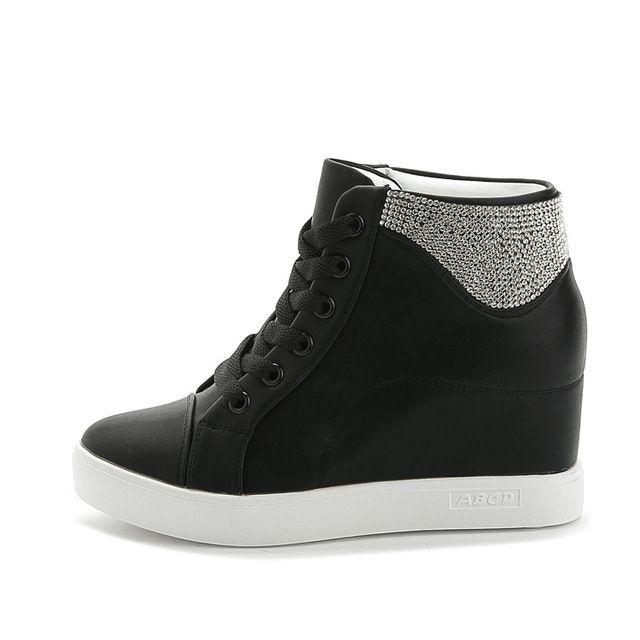 Cunhas moda strass bombas de saltos de sapatos de casamento para as mulheres brancas cunhas plataforma cunhas sapatos de salto alto sapatos de casamento preto em Bombas das mulheres de Sapatos no AliExpress.com | Alibaba Group