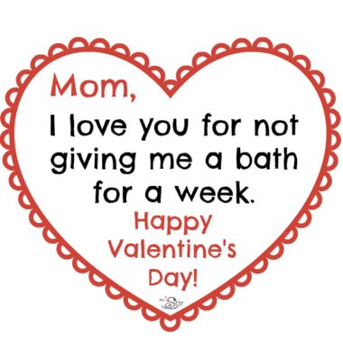 Happy Valentine's Day, Moms! We know you forget sometime, too ...